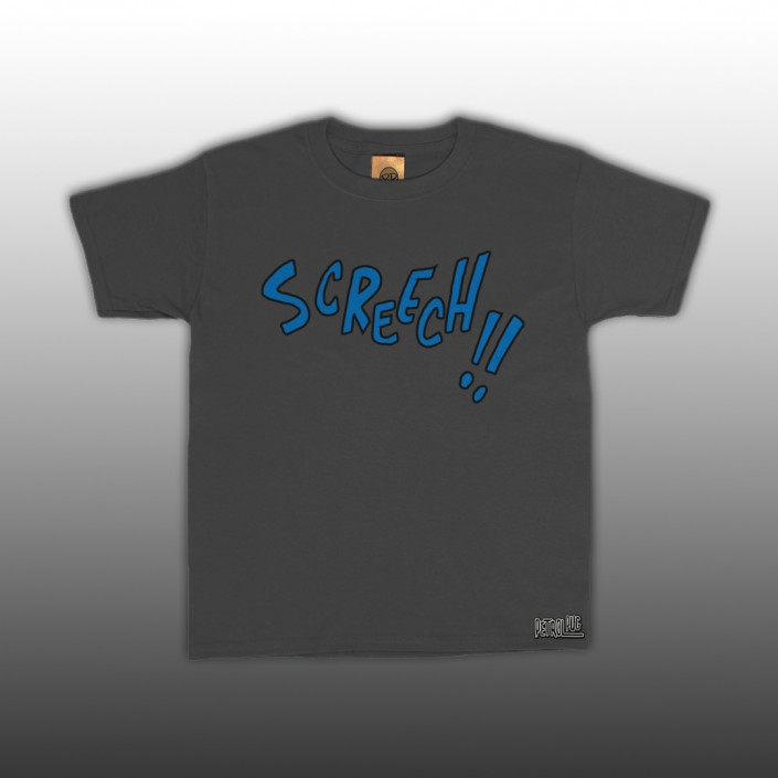 Petrol Pug Comic Screech Font Kids T-Shirt