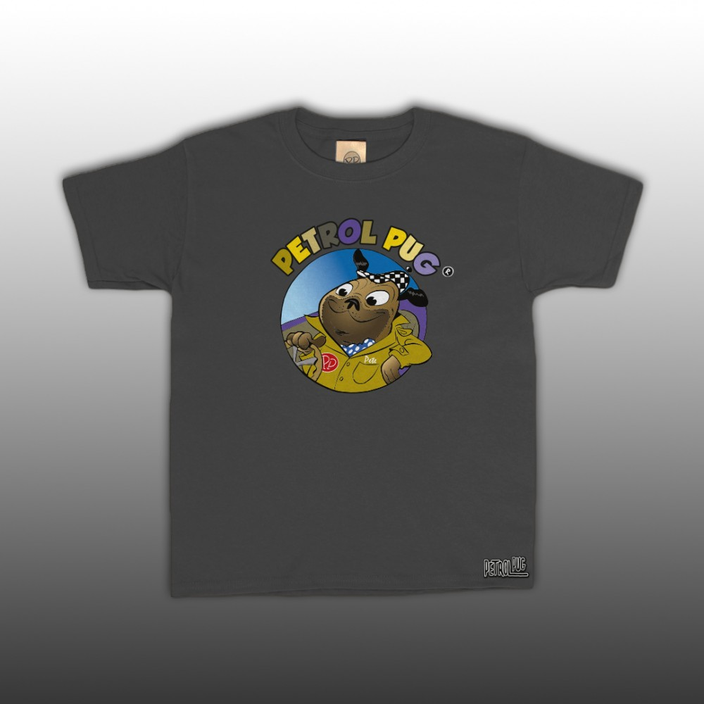 Petrol Pug Driving Kids T-Shirt