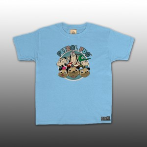 Petrol Pug 6-Headz Kids T-Shirt