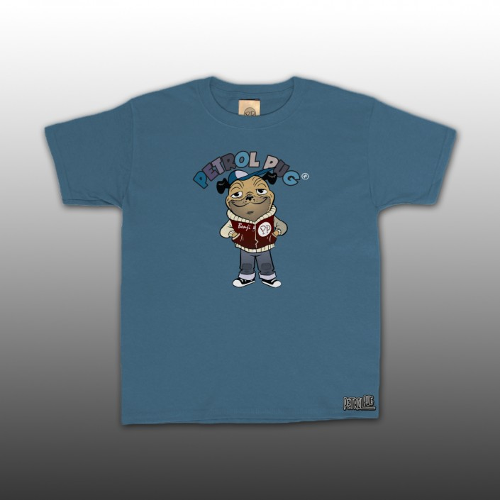 Petrol Pug Introducing Benji Kids T-Shirt