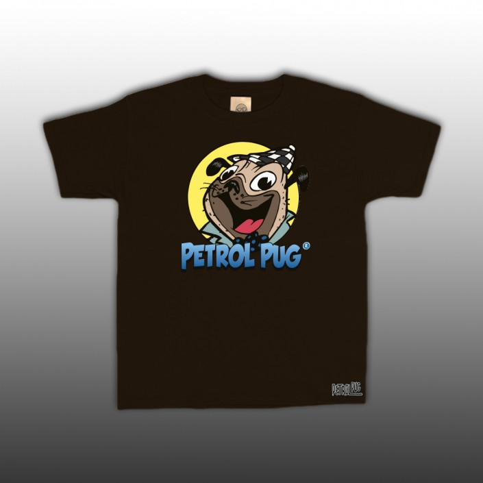 Petrol Pug Comic Strip Logo Kids T-Shirt