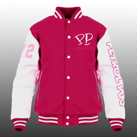 Petrol Pug Girls Mechanics Varsity Jacket