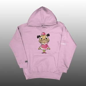 Petrol Pug Kids Girls Introducing Pinki Hoodie