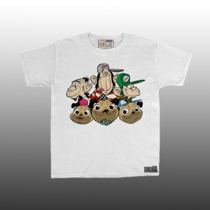Petrol Pug Kids Toddler 6 Headz T-Shirt