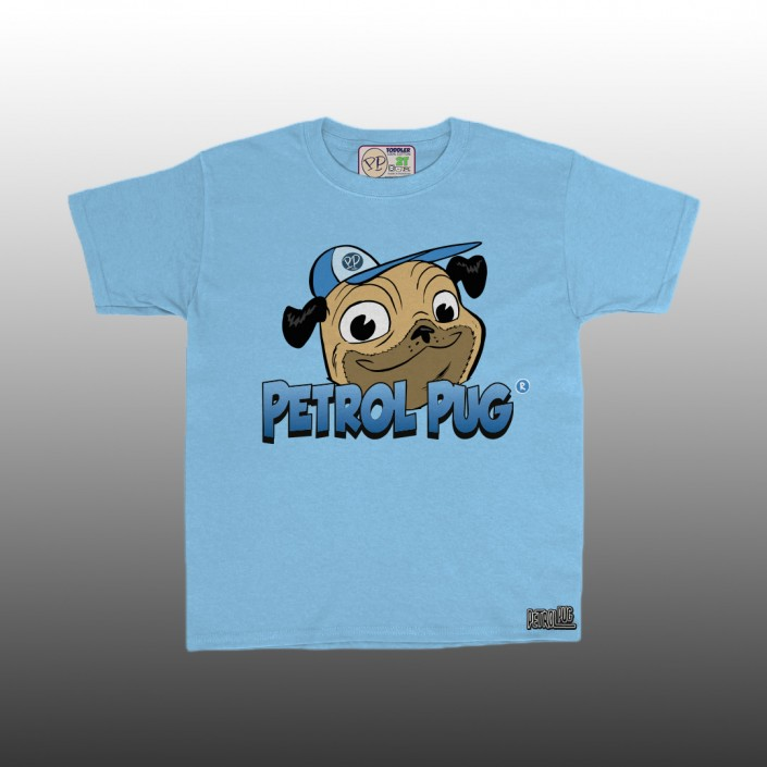Petrol Pug Boys Toddlers Benji Logo T-Shirt