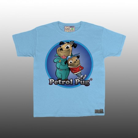 Petrol Pug Boys Toddlers Dad - Son T-Shirt