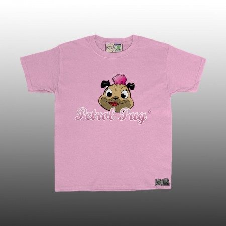 Petrol Pug Girls Toddlers Pinki Logo T-Shirt