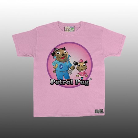 Petrol Pug Toddlers Dad-Daughter Girls T-Shirt