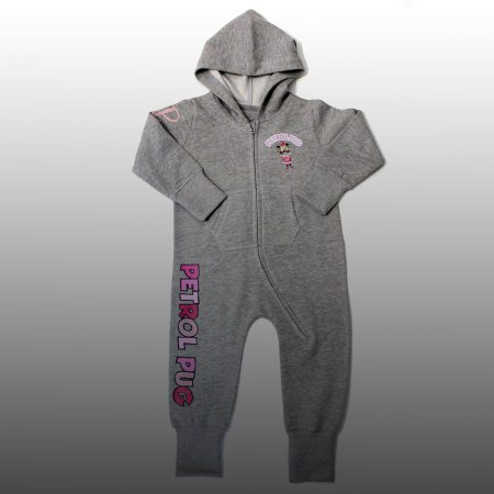 Petrol Pug Baby Girls Jump Suit