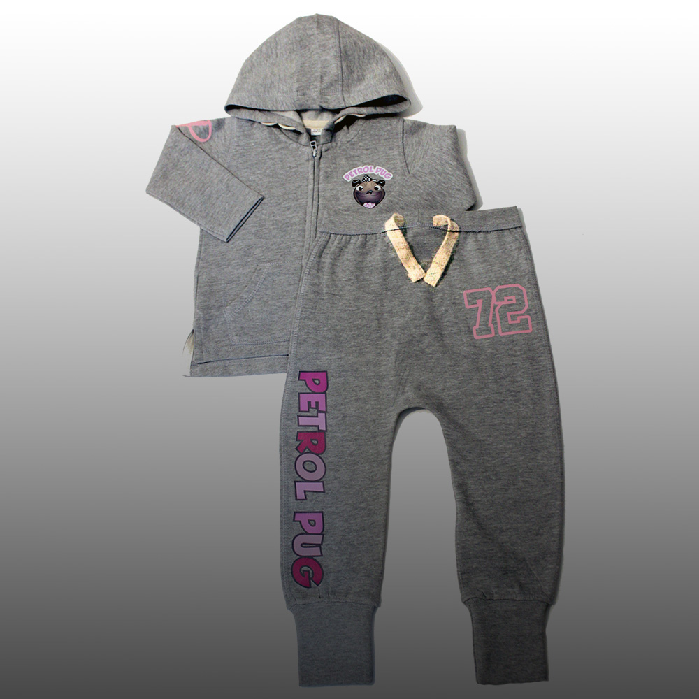 Petrol Pug Baby Girls Track Suit